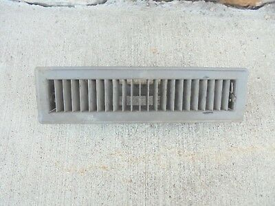 "pressed steel floor furnace register air flow grate 12"" X 2"" opening heavy duty"