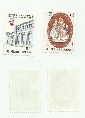 Belgium  Scott# 1015-1016  Set of 2 Teachers - Mint, never hinged