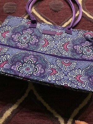 NWT VERA BRADLEY~Lilac Tapestry Lighten Up Expandable Travel Tote Large $88.