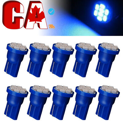 10x T10 Wedge 8 SMD Dome Map License tag plate Glove box footwell LED Light Bulb