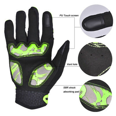 Motorcycle Bike Riding Gloves Windproof Winter Warm Touchscreen Gloves Unisex L