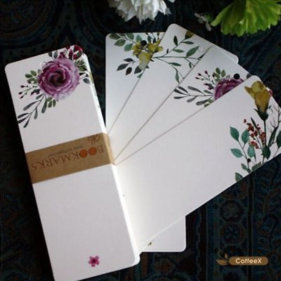 40 PCs/lot Message Card Gift Tag Bookmark Flower Pattern Vintage Word Card