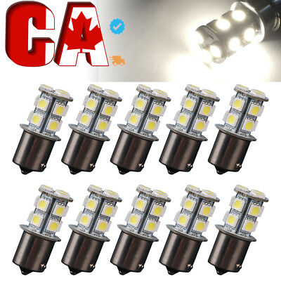 10-X-White-1156-BA15S-5050-13SMD-RV-Camper-Trailer LED Interior Light Bulbs 1141