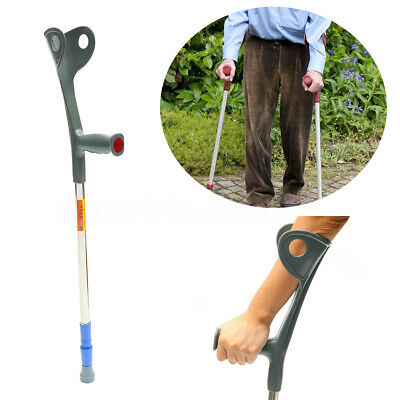 Walking Aid Forearm Crutch Adjustable Height Disability Arm Cuff Crutches Stick