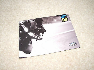 Buell Motorcycles 2008 Brochure 34 Page + Front & Back Cover - English Print