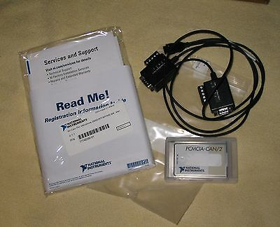 NI National Instruments PCMCIA CAN/2 2Kanal Highspeed CAN Karte Labview Diagnose