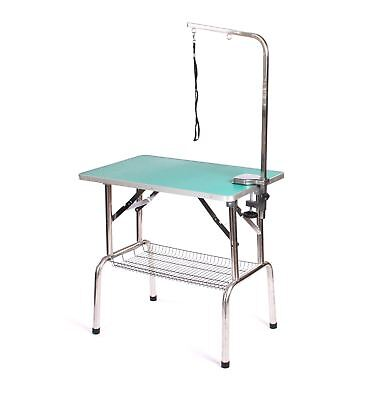 Pedigroom stainless steel dog pet cat grooming show portable mobile table arm gr