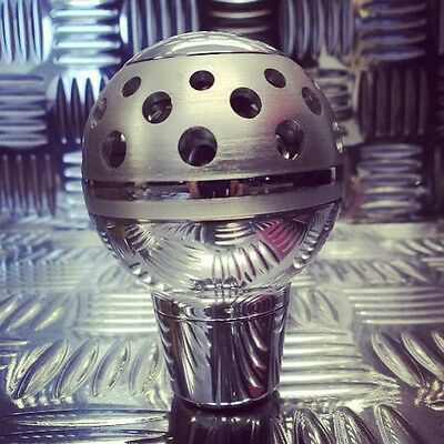 New Chrome & Silver Standard & Push Down Reverse Car Gear Lever Stick Shift Knob