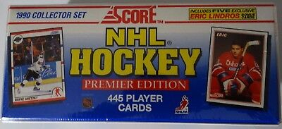 1990-91 Score Premier Edition Factory Sealed Set NHL 445 Hockey Cards