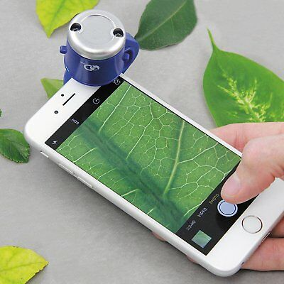 Discovery Channel Smart Phone Microscope 30x Zoom Lens Magnifier Gift Idea