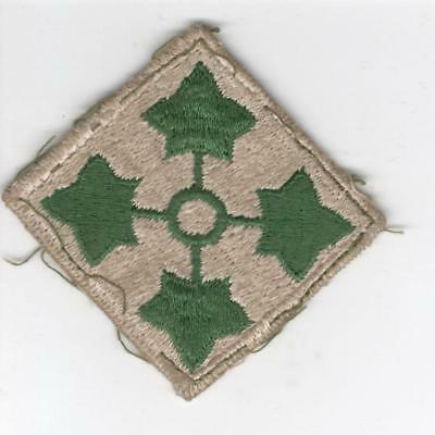 WW 2 US Army 4th Infantry Division Patch Inv# Y964