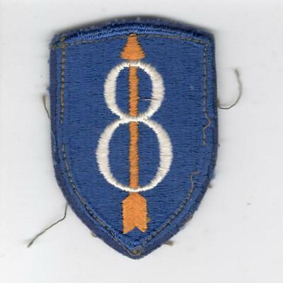 WW 2 US Army 8th Infantry Division Patch Inv# Y977