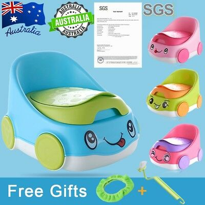 SGS 2 in1 Car Safely Kids Baby Toddler Potty Urinal Toilet Home Training Trainer
