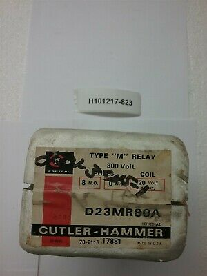 Cutler Hammer relay D23MR80A, type M 300V 120V coil 8 N.O. New Old Stock