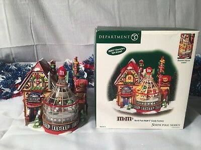 New Department 56 North Pole Series North Pole M&m's Candy Factory #567732
