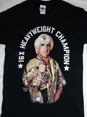 WWE Ric Flair 16X Heavyweight Champion Officially Licensed Wrestling T-Shirt