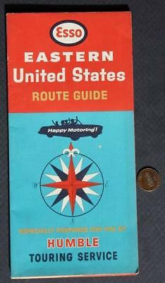 1965 ENCO Oil Gas Service Station Eastern United States Roadmap-Humble Oil too!