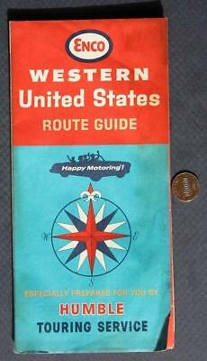 1965 ENCO Oil Gas Service Station Western United States Roadmap-Humble Oil too!