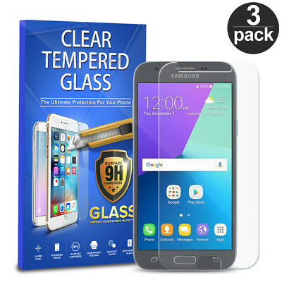 For Samsung Galaxy J3 Luna Pro J3 Prime 3-PACK Tempered Glass Screen Protector