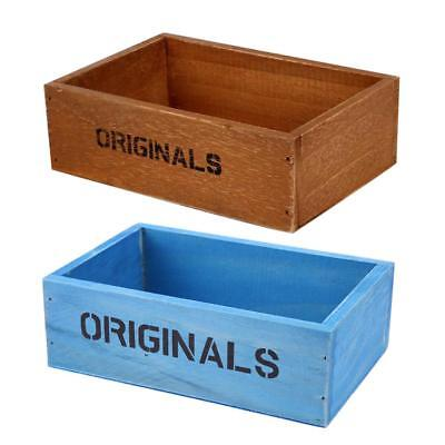 Handmade Rustic Antique Storage Vintage Wooden Boxes/Crates Trugs New