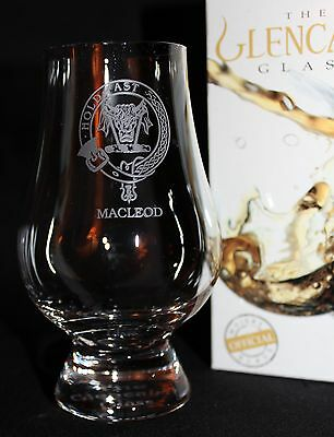 Clan Macleod Scotch Malt Whisky Glencairn Tasting Glass