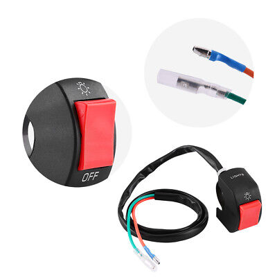 7/8'' 22mm Motorcycle Bike Handlebar Headlight Light On/Off Switch Red Button DH