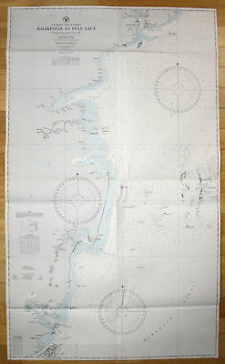 1935 Southeast Coast of Borneo Balikpapan to Pulu Laut Indonesia Indonesien map