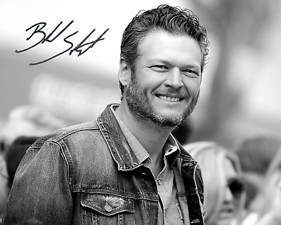 Blake Shelton Signed Autographed Reprint 8X10 Color Photo Poster Country Music