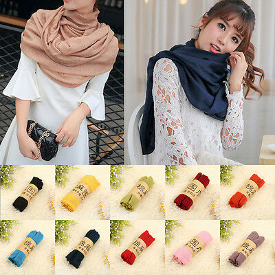 New Lady Women Long Multi Colors Soft Cotton Scarf Wrap Shawl Scarves Cape Stole