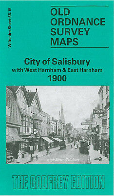 Old Ordnance Survey Map City Of Salisbury West & East Harnham 1900 Milford St
