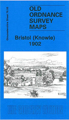 Old Ordnance Survey Map Bristol Knowle 1902 Brislington Somerset Road Wells Road