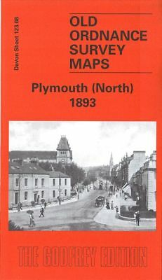 Old Ordnance Survey Map Plymouth North 1893 Grenville Road Lockyer Road Lipson