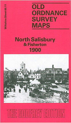 Old Ordnance Survey Map North Salisbury Fisherton 1900 Blue Boar Row Castle St
