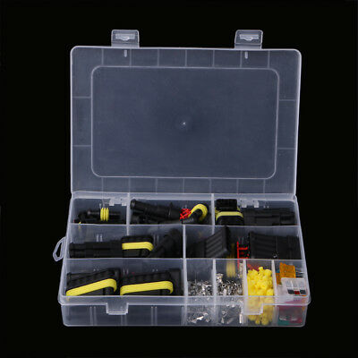 240Pcs Car Superseal AMP/Tyco Waterproof Electrical Connectors 1-6 Way Pin Kit