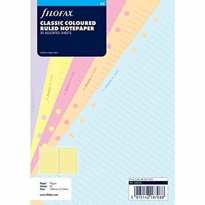 Filofax A5 Classic Coloured Ruled Notepaper
