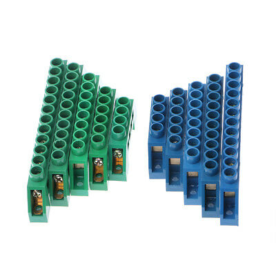 Brass 4-12P Plug-in Screw Wire Connector Terminal Barrier Block 250-450V