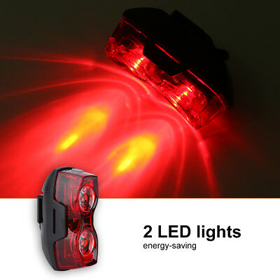 1000M 2 LED Bright Cycling Bicycle Bike Safe Rear Tail Flashing Back Light Lamp