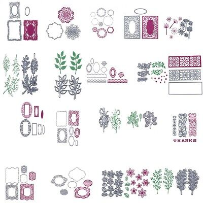 64 Style Metal Floral Cutting Dies Stencil Scrapbook Paper Card Cover Emboss DIY