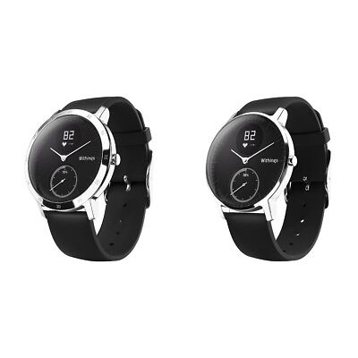 Withings Activite Steel Black Activity Tracker - Black - Choice of Size. Argos