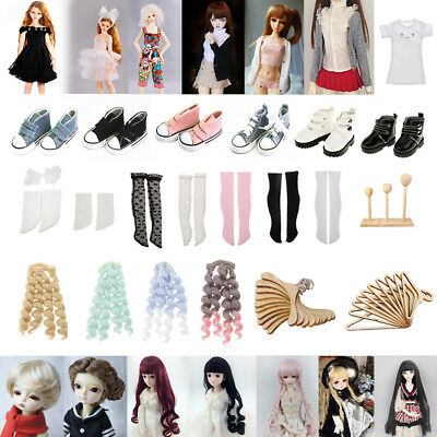 1/4 BJD Doll Making & Repair Clothes Shoes Wig Socks Stand for DOD LUTS Dollfie