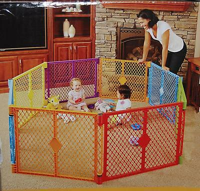 North States Superyard Colorplay 8 Panel Playard Outdoor Playpen Made in USA