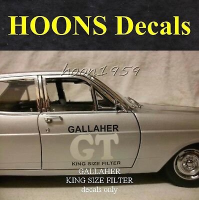 1:18 Waterslide missing Tobacco Decals for Classic Gallaher XR GT Falcon