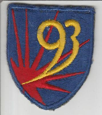 Off Uniform WW 2 US Army 93rd Chemical Mortar Battalion Patch Inv# S535