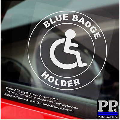 1x Disabled Blue Badge Holder-Round-Window Sticker-Sign,Car,Warning,Notice,Logo