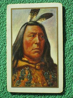 Native American Indian Art Sitting Bull by Rookwood Swap Card Vintage 1910 Rare