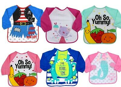 Baby Bibs with Sleeve Large Feeding Bib Ideal for weaning 6-24 months approx
