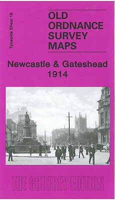 Old Ordnance Survey Map Newcastle & Gateshead 1914 Bigg Market Peterborough St
