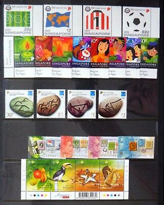 SINGAPORE 2002/4 Sets & Sheetlets on 3 Pages U/M NB4440