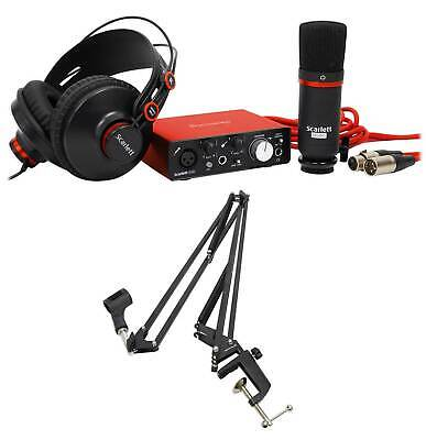 Focusrite SCARLETT SOLO STUDIO 2nd Gen USB Audio Interface+Mic+Headphones+Boom