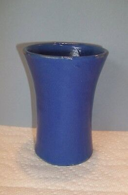 Vintage Arts & Crafts Pottery BLUE Vase Kentucky Bybee? Mission Craftsman